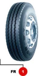 10,00R20 146/143K TT FR 1 EU LRH 16PR MATADOR-nová pneu nákladní, regionální dezén, řízená náprava